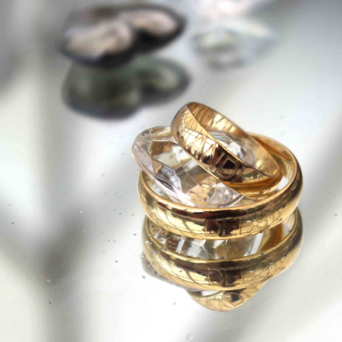 Gold Rings - Sandra Sergeant Photography Basingstoke