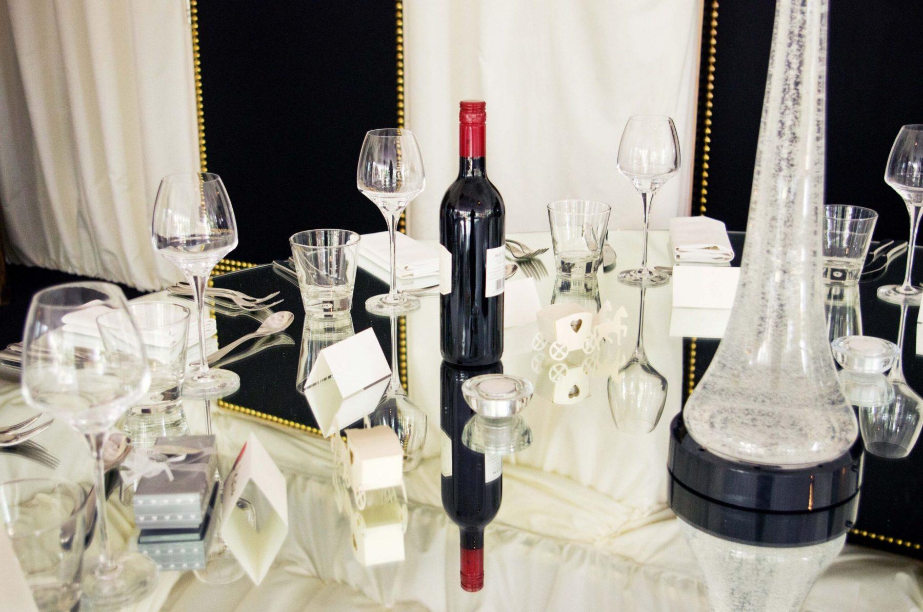 Mirrored tables - Sandra Sergeant Photography Basingstoke
